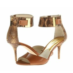MICHAEL KORS Guiliana Embossed Leather Shoes 11